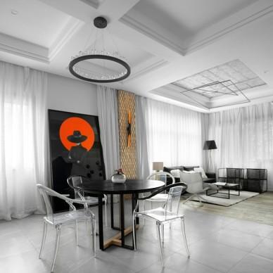黑白格混搭风星象办公室洽谈区设计