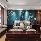 140㎡优雅中式客厅沙发图片