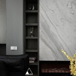 中粮天悦府 现代客厅储物架设计
