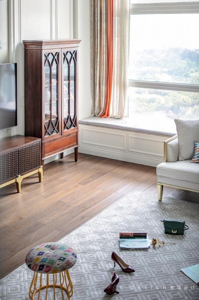 素雅美式客厅储物柜设计客厅美式经典客厅设计图片赏析