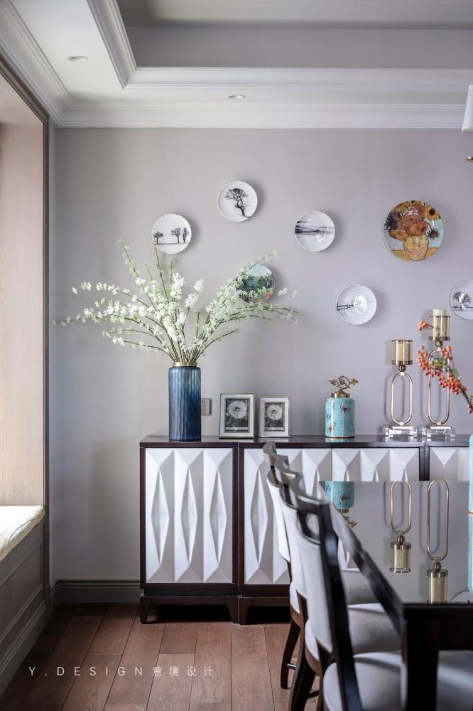 素雅美式餐厅储物柜设计厨房美式经典餐厅设计图片赏析