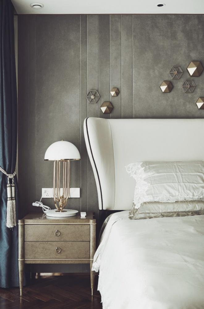 混搭豪宅卧室床头柜设计卧室床头柜潮流混搭卧室设计图片赏析