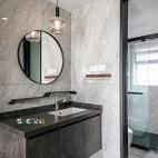 混搭风卫浴洗手台实景图片