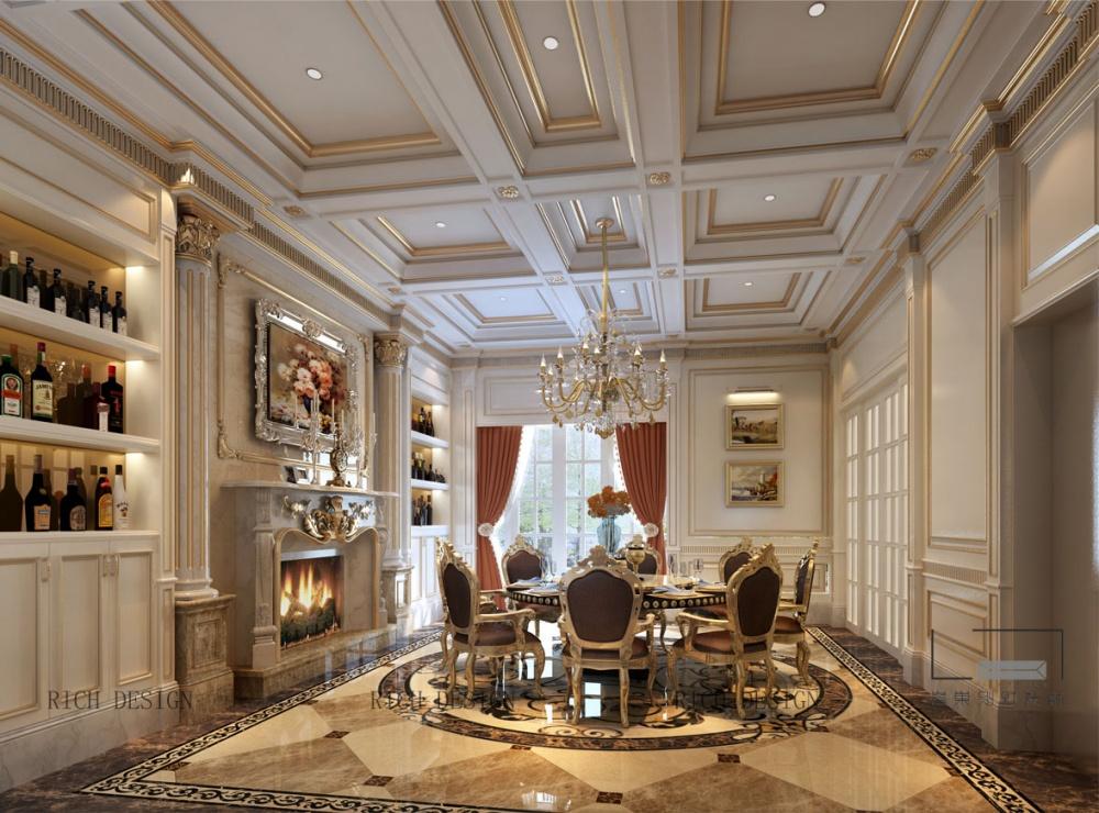 卓越维港欧式装修装饰,深圳装修公司客厅欧式豪华客厅设计图片赏析