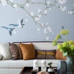 重庆中海峰墅客厅背景画设计