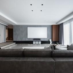 四居現代大客廳設計圖片