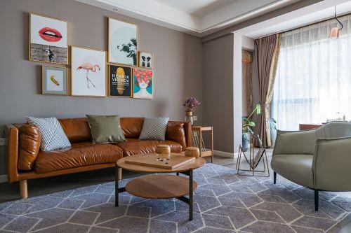 遇见你客厅窗帘121-150m²四居及以上北欧极简家装装修案例效果图