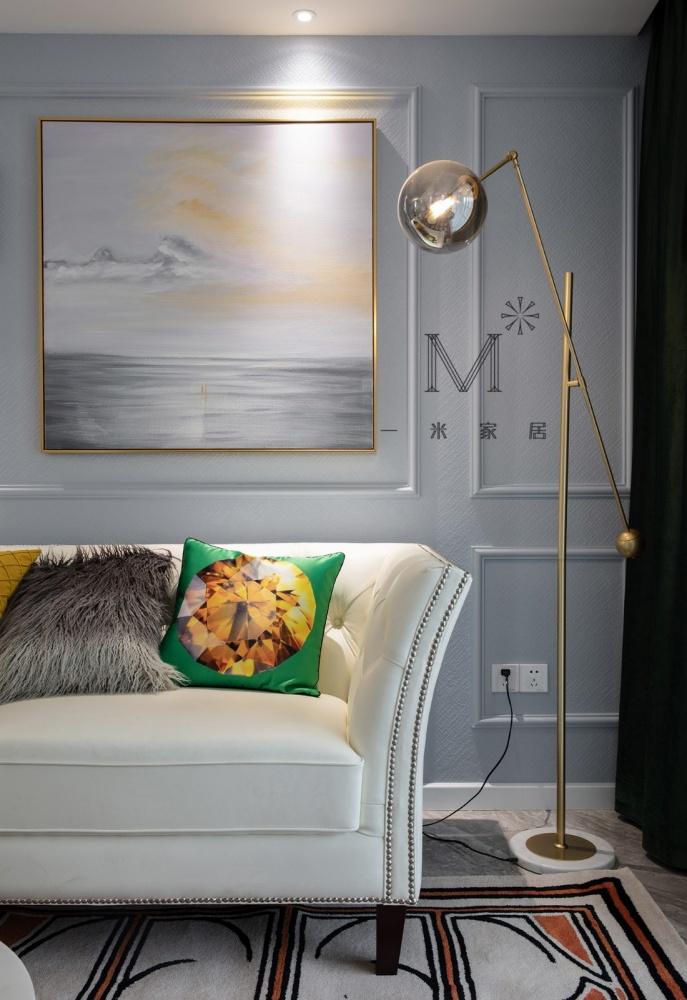 清新简美式客厅落地灯图客厅美式经典客厅设计图片赏析