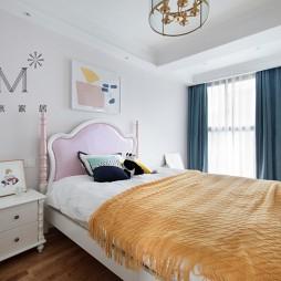 清新简美式次卧设计图