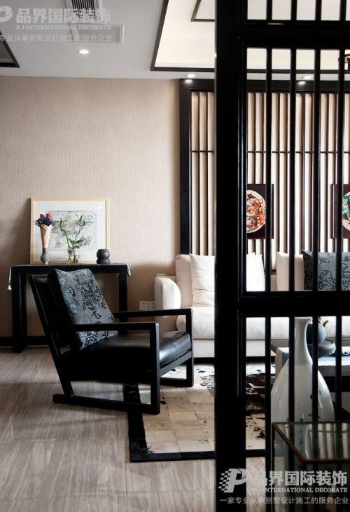 约克郡上景韵东方新中式风格101-120m²三居中式现代家装装修案例效果图