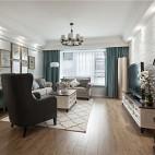 清新美式客厅实景图