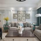 清新美式客厅沙发图片