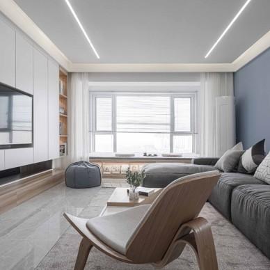 现代风样板房客厅实景图