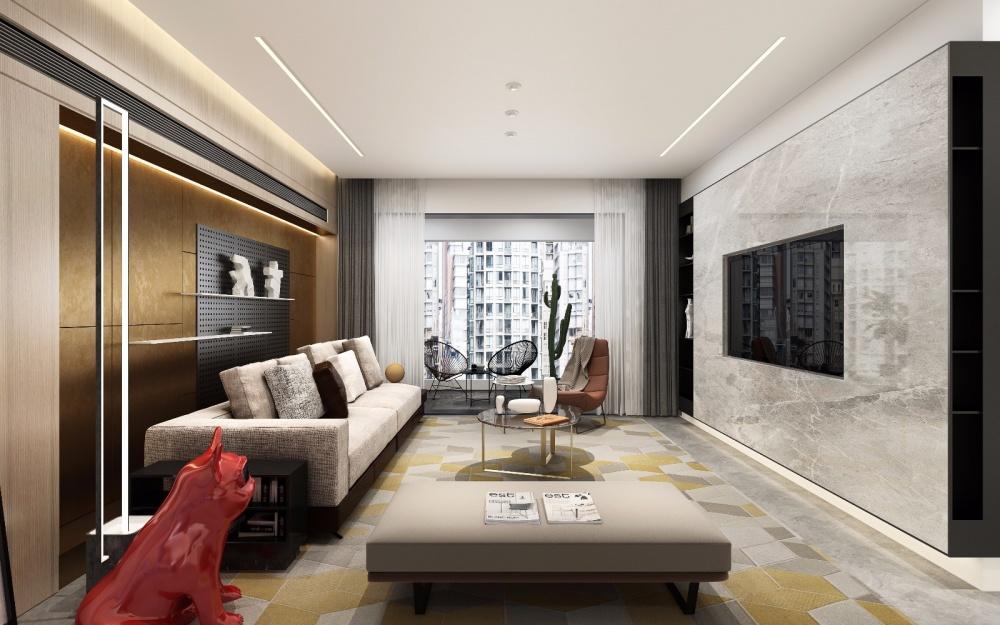 Chris'sDomicile室内设计客厅现代简约客厅设计图片赏析