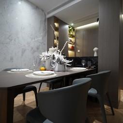 90平二居简约餐厅设计图