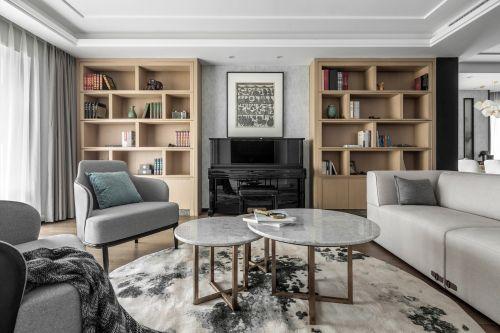 四居中式风客厅实景图201-500m²四居及以上中式现代家装装修案例效果图