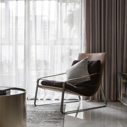 黑白系现代三居客厅一角设计