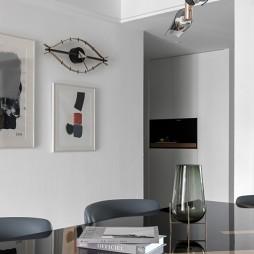 黑白系现代三居餐厅设计图片