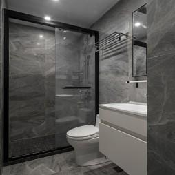 黑白系现代三居卫浴设计图片