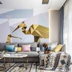 艺术感混搭风客厅沙发实景图