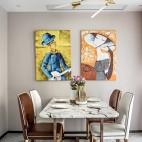 艺术感混搭风餐厅吊灯图片