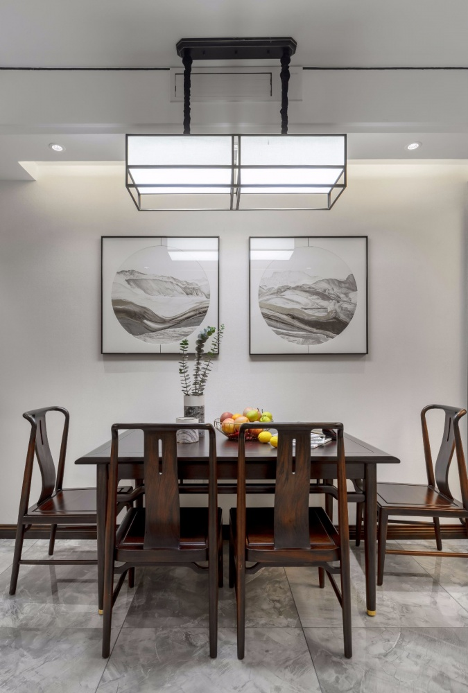 这个装饰公司把新中式做的美逆天了!厨房2图美式经典餐厅设计图片赏析