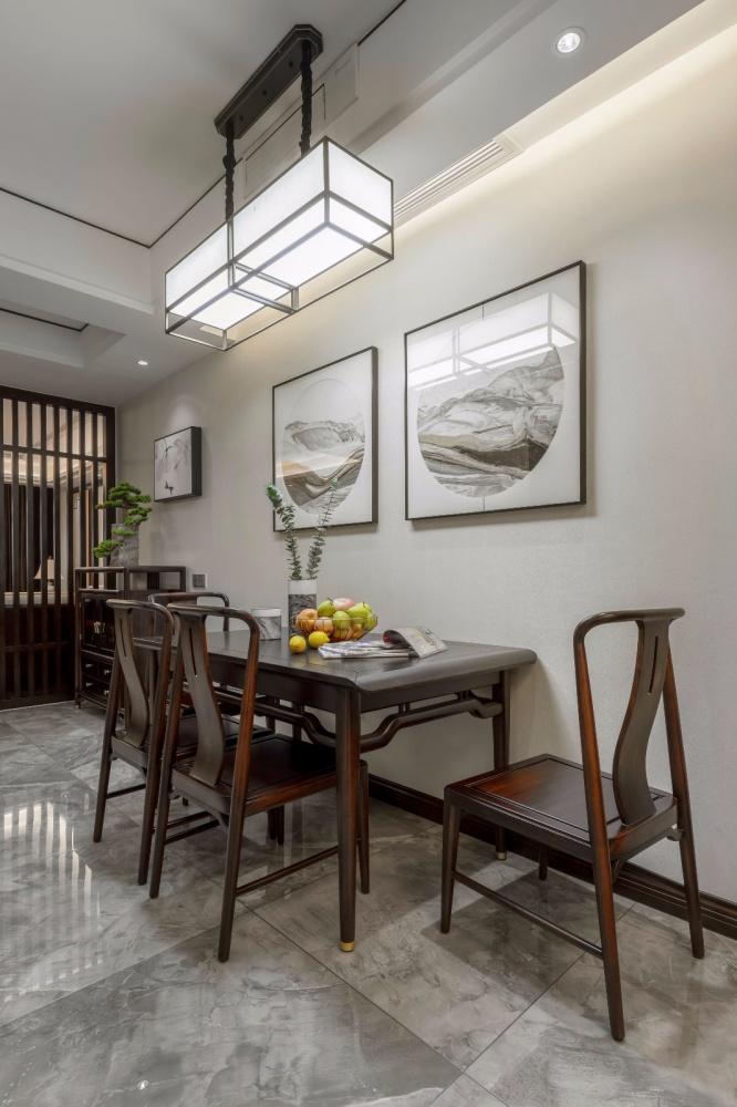 这个装饰公司把新中式做的美逆天了!厨房1图美式经典餐厅设计图片赏析