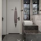 精致浅咖卫浴设计图