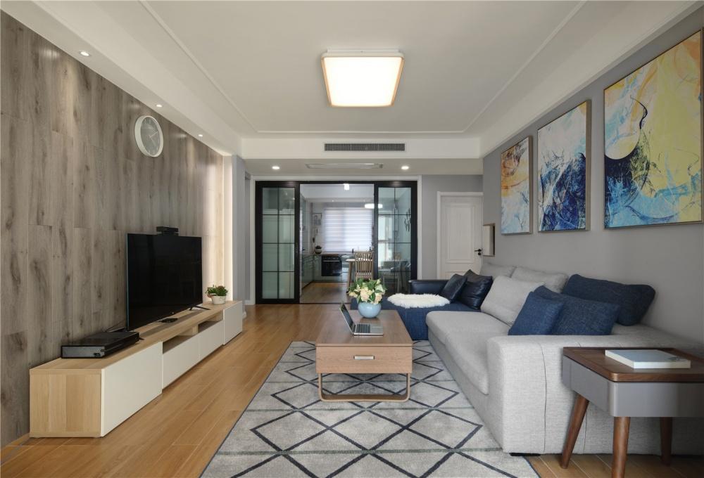 套内80平米改造小三房设计,值得学习!客厅现代简约客厅设计图片赏析