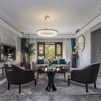 现代复式改造客厅吊灯图片