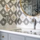 《花间》混搭风卫浴洗手台设计