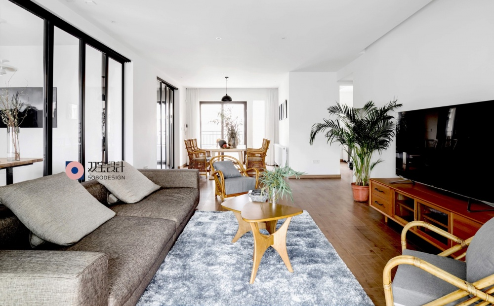 自然混搭风客厅茶几图客厅沙发潮流混搭客厅设计图片赏析