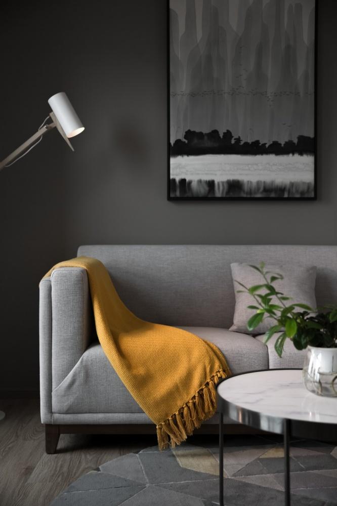简约北欧风客厅落地灯图片客厅北欧极简客厅设计图片赏析