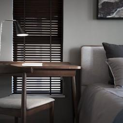 简约北欧风卧室书桌设计