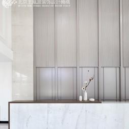 观山悦新中式风格售楼处前台设计
