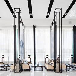 观山悦新中式风格售楼处隔断设计