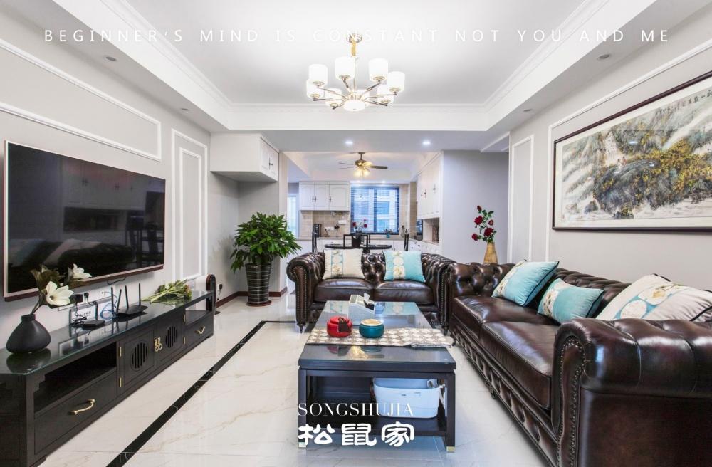 柔和美式客厅茶几图片客厅美式经典客厅设计图片赏析