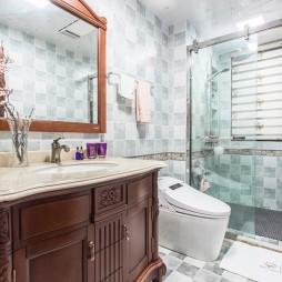 柔和美式卫浴设计实景图