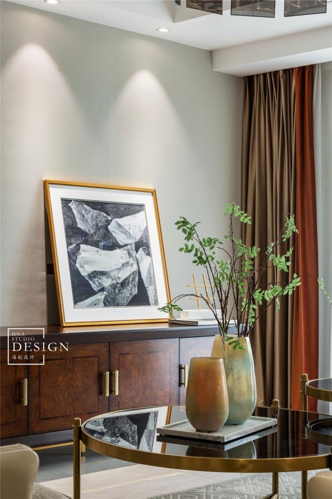 柔和美式客厅储物柜设计客厅美式经典客厅设计图片赏析