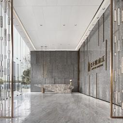 武汉景瑞天赋滨江售楼处大堂设计