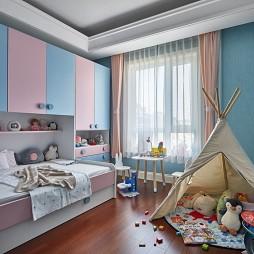 温馨现代风儿童房设计图