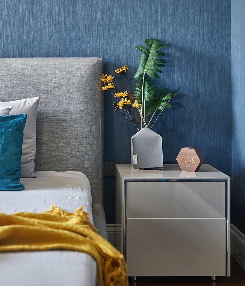 温馨现代风卧室床头柜设计客厅现代简约客厅设计图片赏析