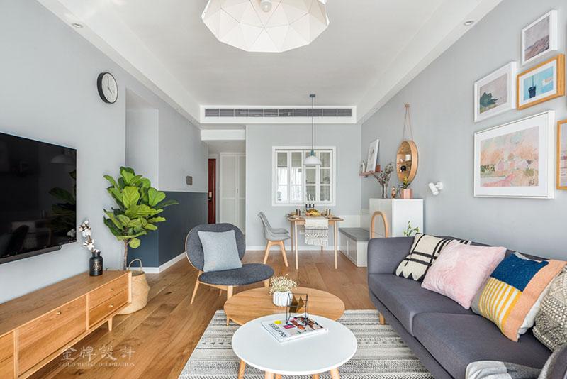 滨湖南丽湾秦先生的新家客厅北欧极简客厅设计图片赏析