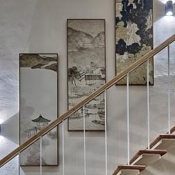 计家墩原舍·阅水酒店楼梯装饰画图