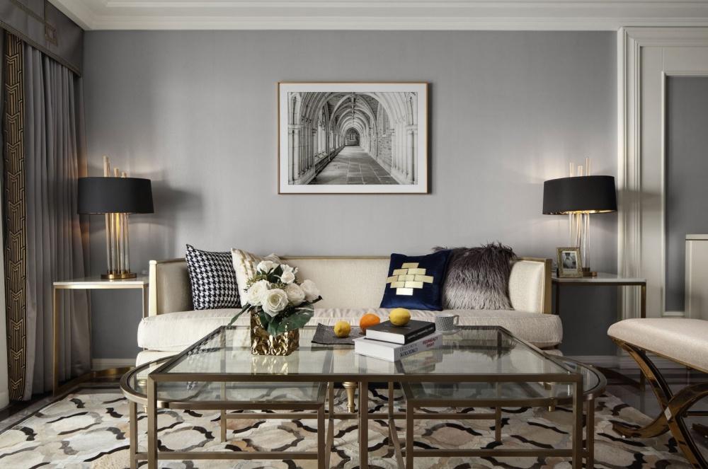 高雅混搭风客厅装饰画设计图客厅潮流混搭客厅设计图片赏析