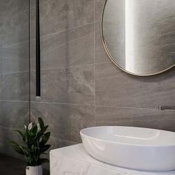 平凡现代风卫浴洗手台设计图