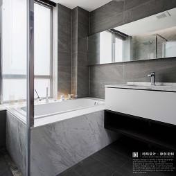 平凡现代风卫浴设计图