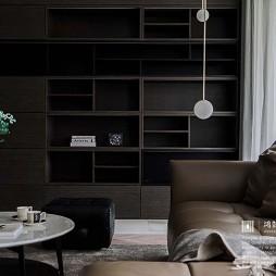 平凡现代风客厅储物柜设计