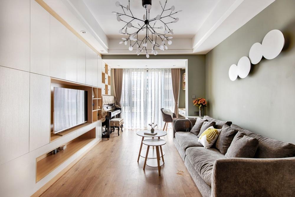 北欧混搭风客厅吊灯图片客厅潮流混搭客厅设计图片赏析