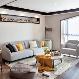 现代风格三居客厅装饰设计图